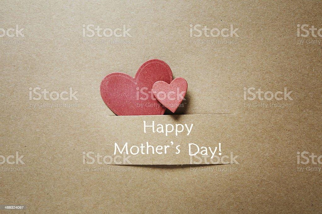Glückliche Mütter Tag Nachricht mit Herz – Foto
