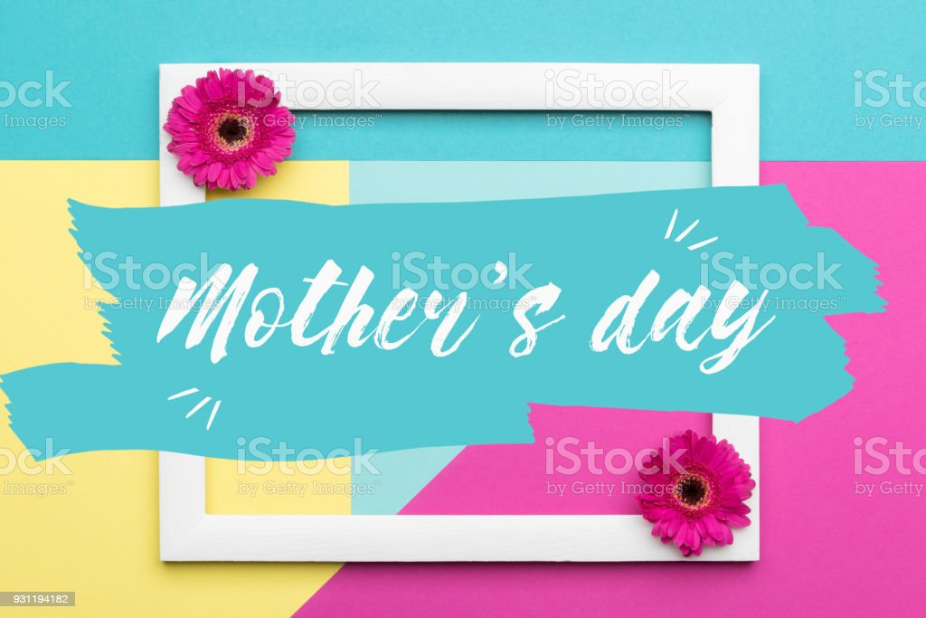 Happy mothers day pastel coloured background floral flat lay happy mothers day pastel coloured background floral flat lay minimalism greeting card royalty m4hsunfo