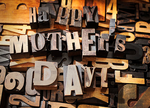 happy mother's day - happy mothers day type stock photos and pictures