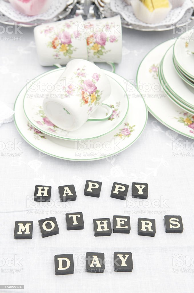 Happy Mother's Day Tea Party royalty-free stock photo