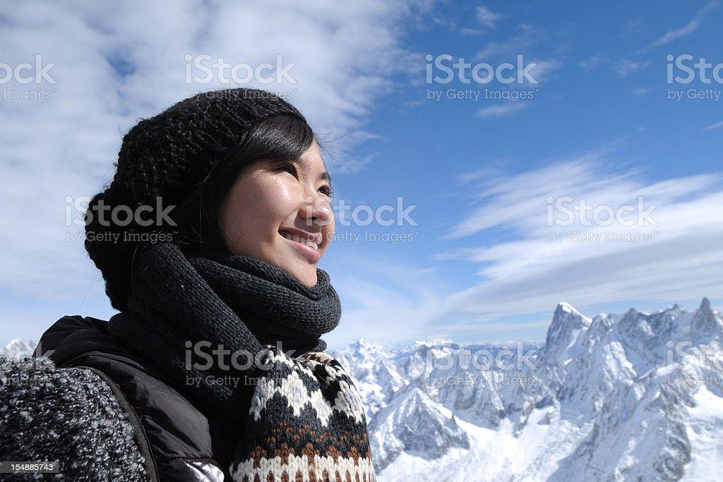 Happy Mountain Climber - XLarge royalty-free stock photo