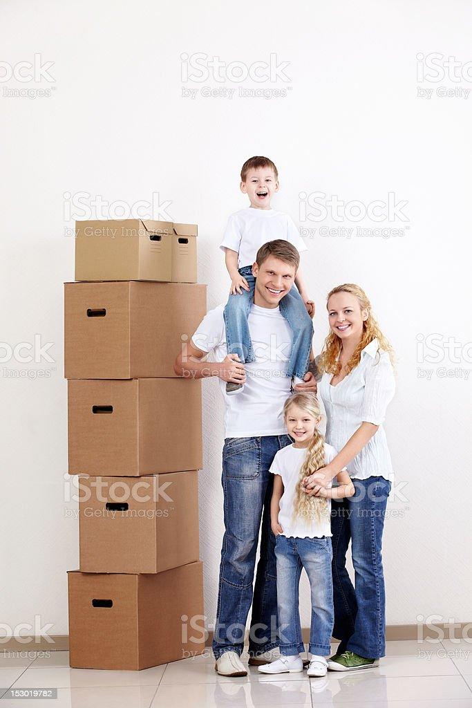 Happy Moving stock photo