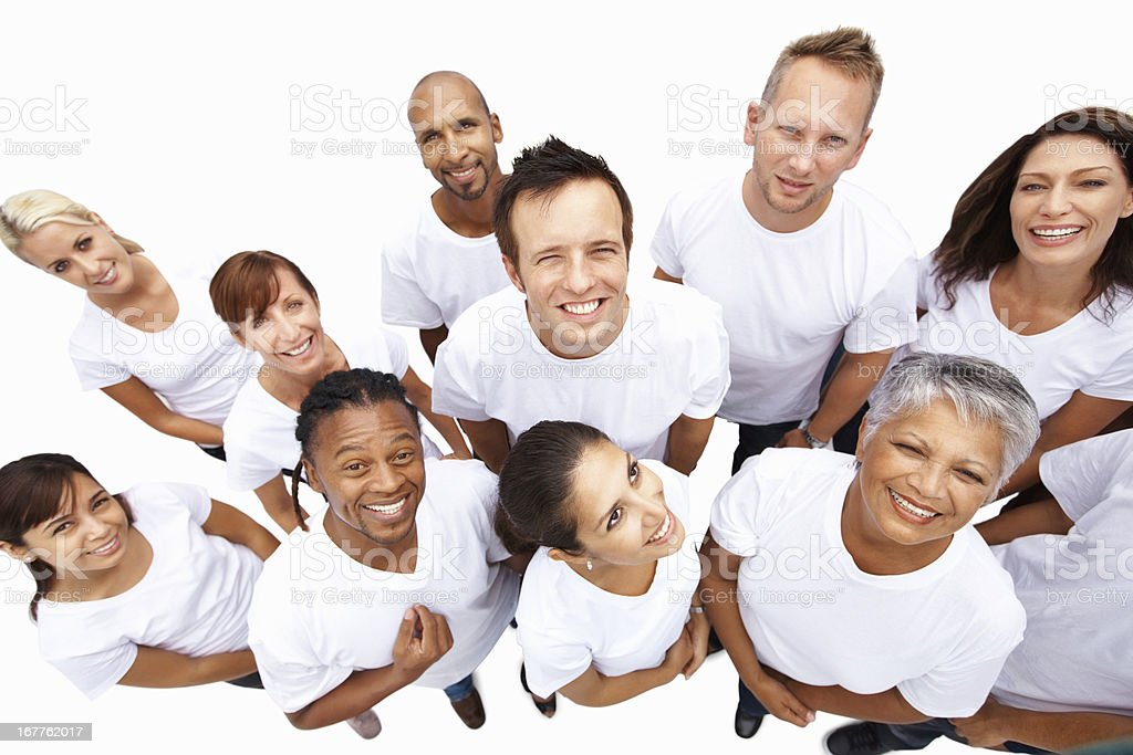Happy multi ethnic group af people royalty-free stock photo