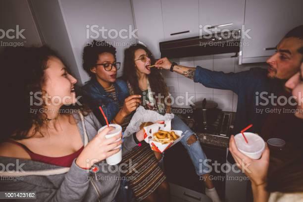 Happy multiethnic teenage friends partying and eating fast food picture id1001423162?b=1&k=6&m=1001423162&s=612x612&h=uvurffsknomumzd0nj9dvr6u ew eyv9ndp5ojgzlk8=
