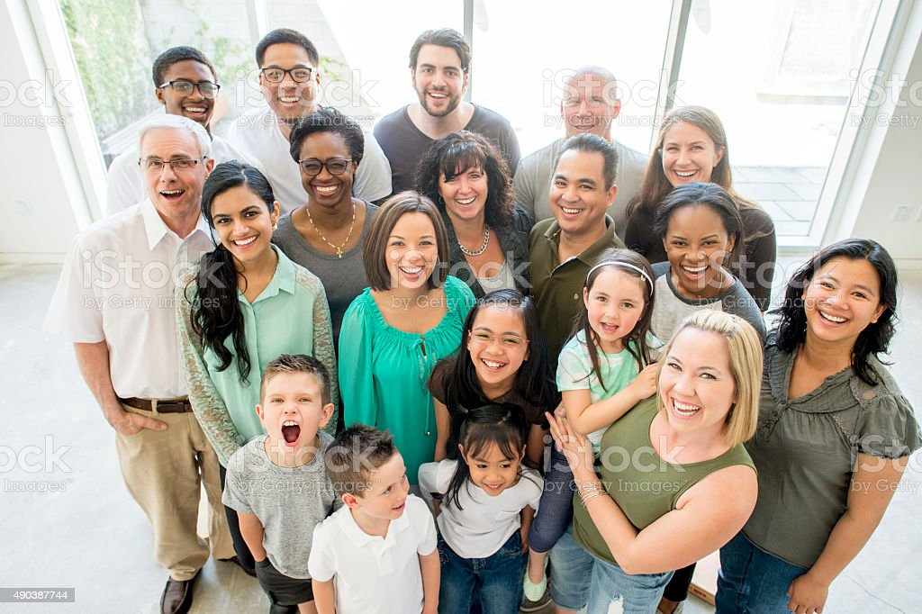 Happy Multi-Generation Group stock photo