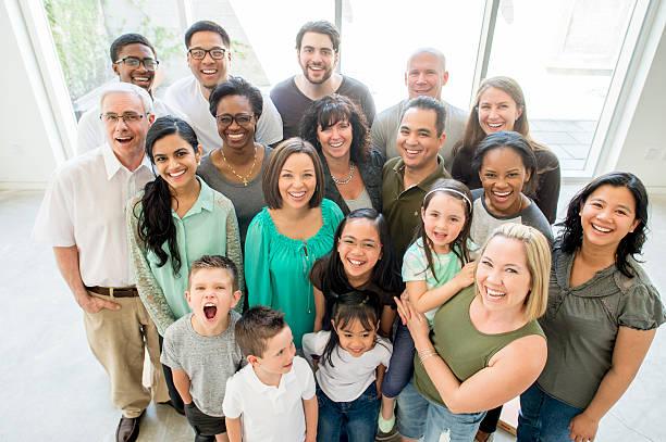 な多世代グループ ストックフォト