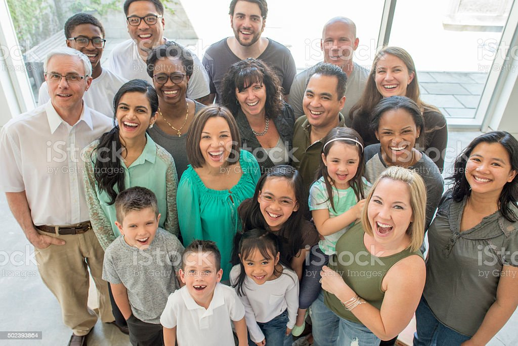 Happy Multi-Generational Family stock photo