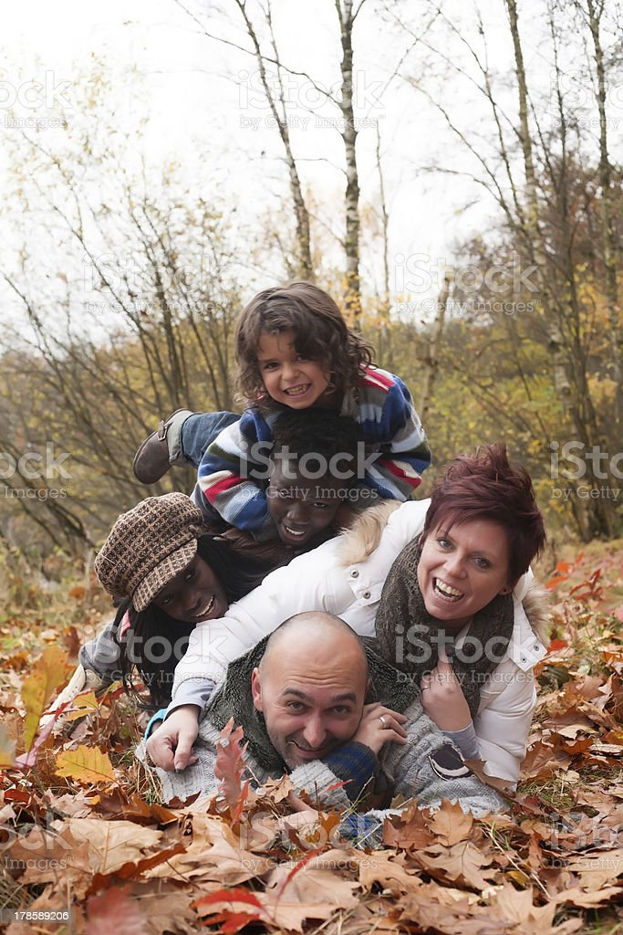 Happy multiracial family stock photo