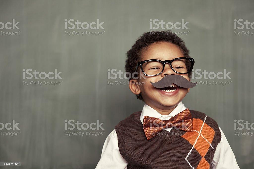 Happy Nerd stock photo
