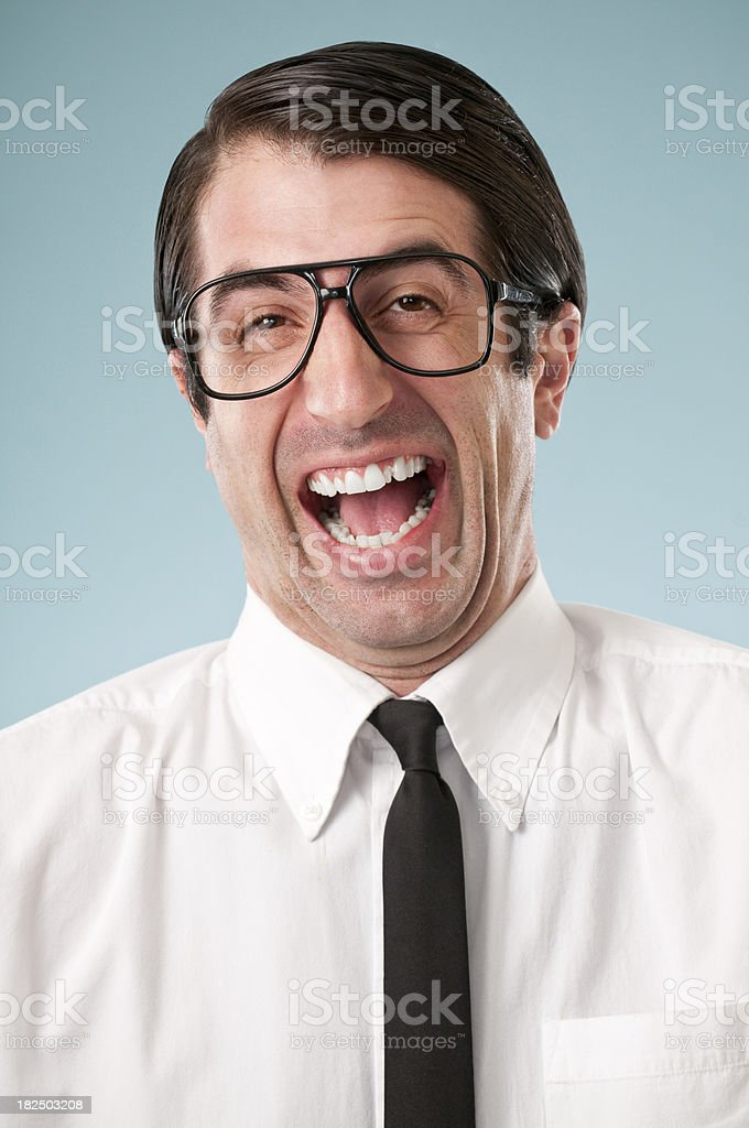 Happy Nerdy Office Worker royalty-free stock photo