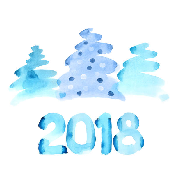 Happy new 2018 year stock photo