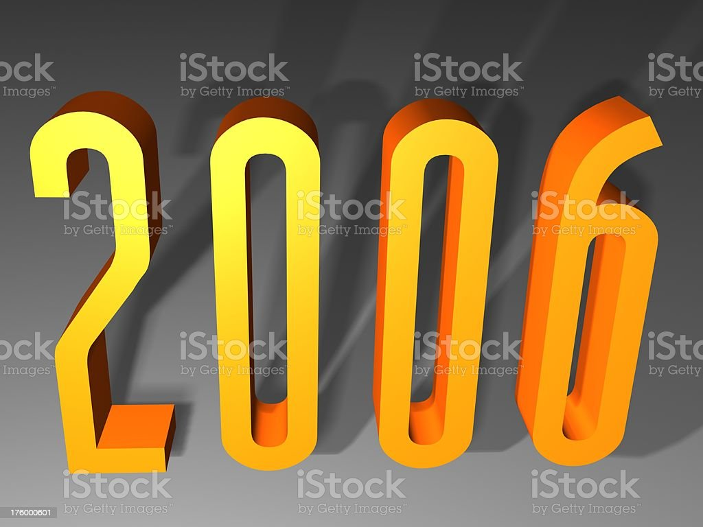 Happy new year 2006 3d royalty-free stock photo
