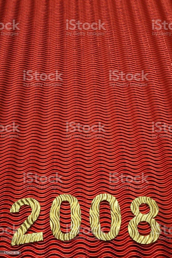 Happy New Year 2008 stock photo