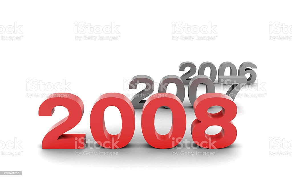 Happy new year 2008. royalty-free stock photo