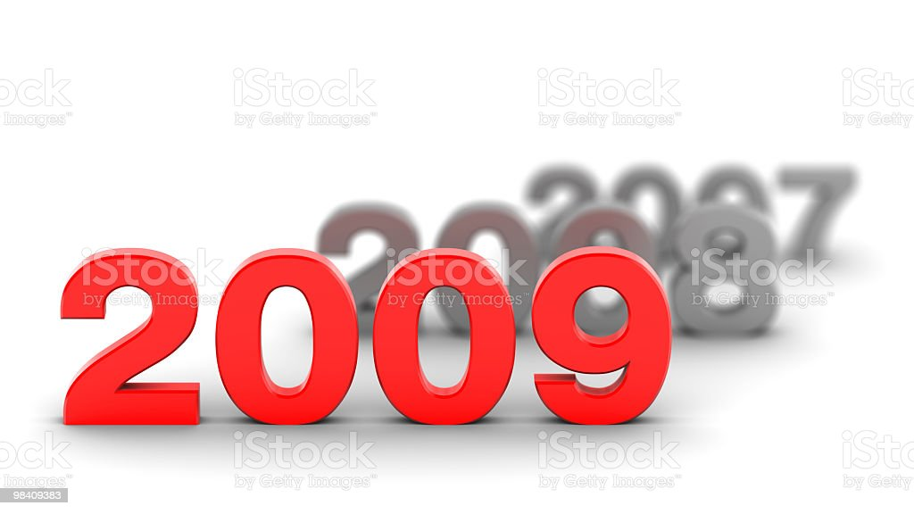Felice anno nuovo 2009 foto stock royalty-free