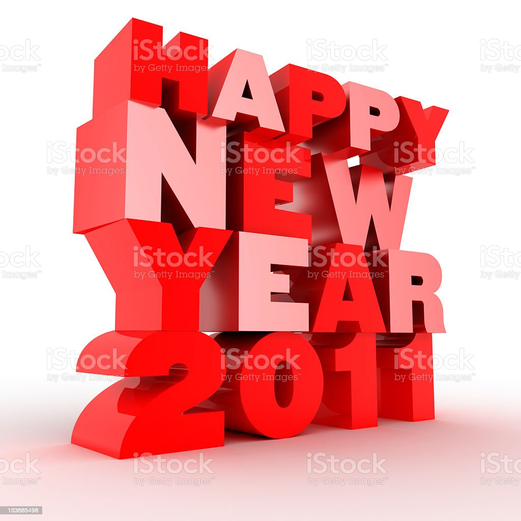 happy new year 2011 royalty-free stock photo