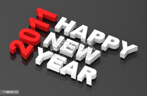 istock Happy New Year 2011, text on black 119846122