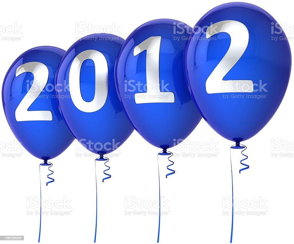 Happy New Year 2012 party balloons stock photo