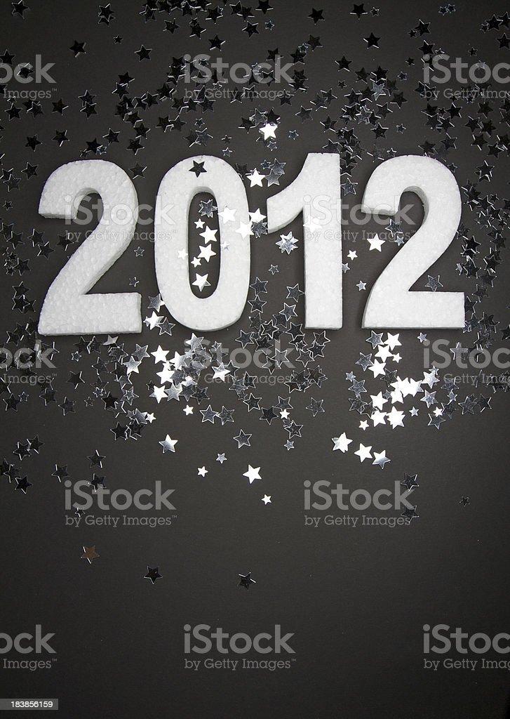 Happy New Year 2012 stock photo