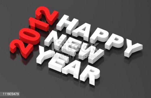 104509114istockphoto Happy New Year 2012, text on black 111923475