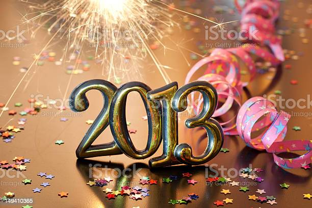Happy New Year 2013 Stock Photo - Download Image Now