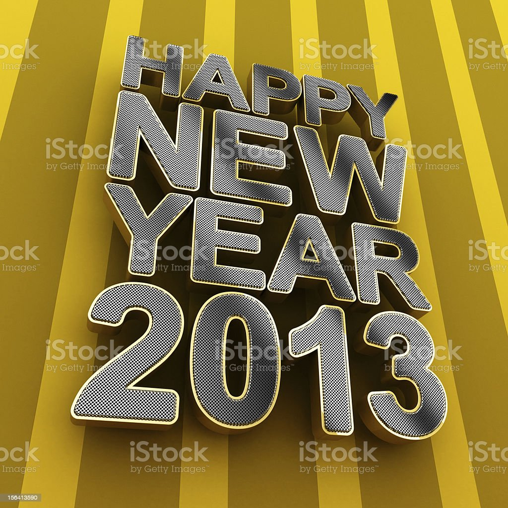 Happy New Year 2013 royalty-free stock photo