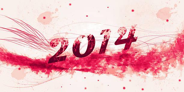 Heureuse nouvelle année 2014 avec texte grunge - Photo