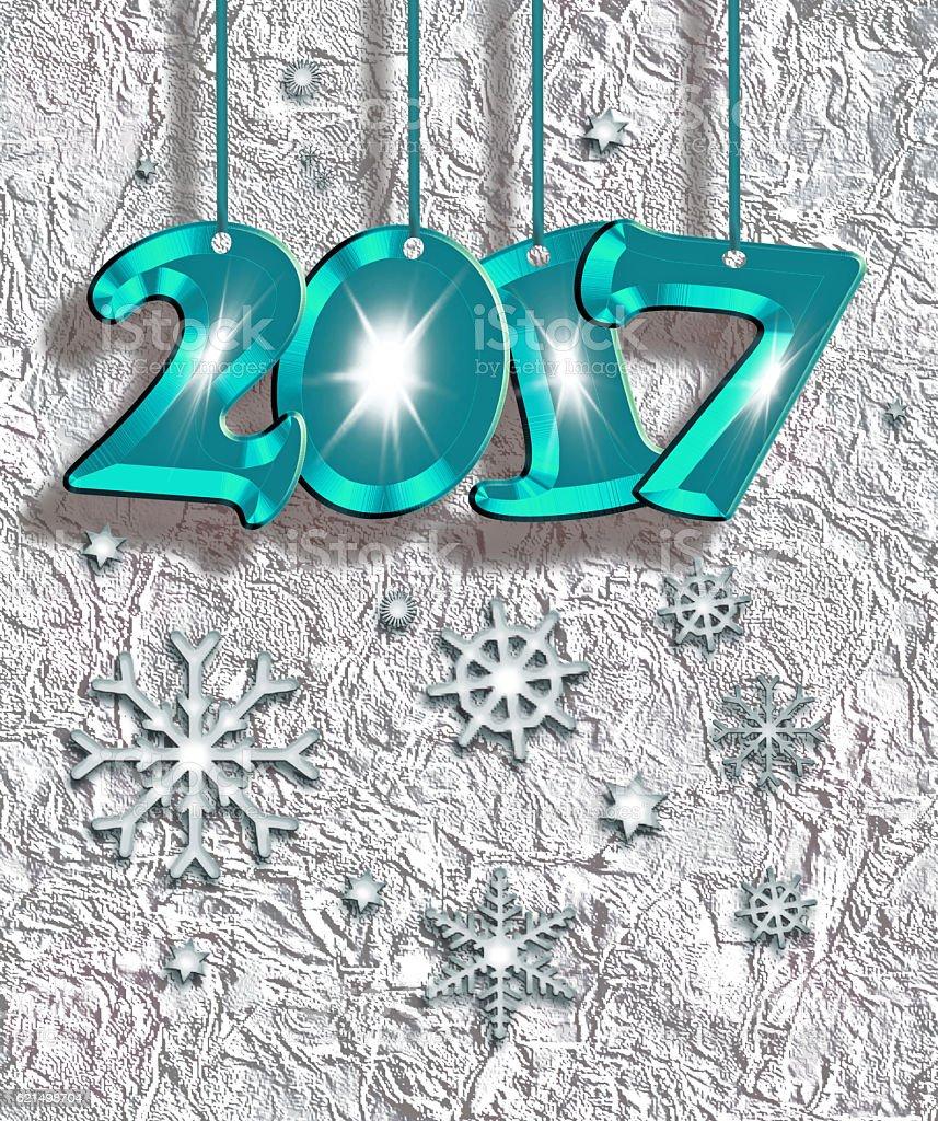 Happy New Year 2017 ! photo libre de droits