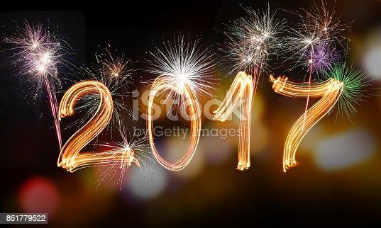 613303142 istock photo Happy new year 2017 851779522