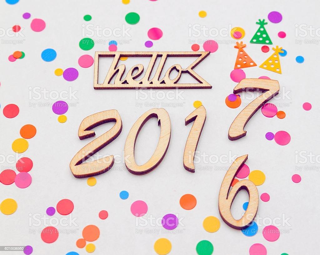 Happy New Year 2017 replace 2016 concept photo libre de droits