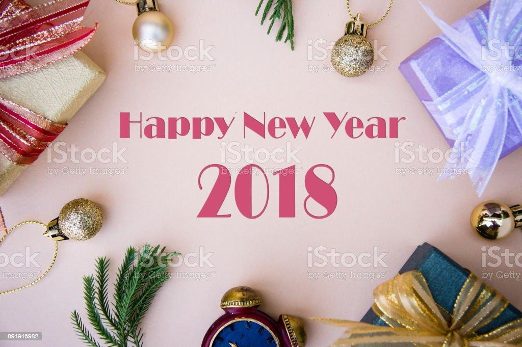 Glückliches Neues Jahr 2018 Hintergrund Geschenke Box Dekoration Für ...