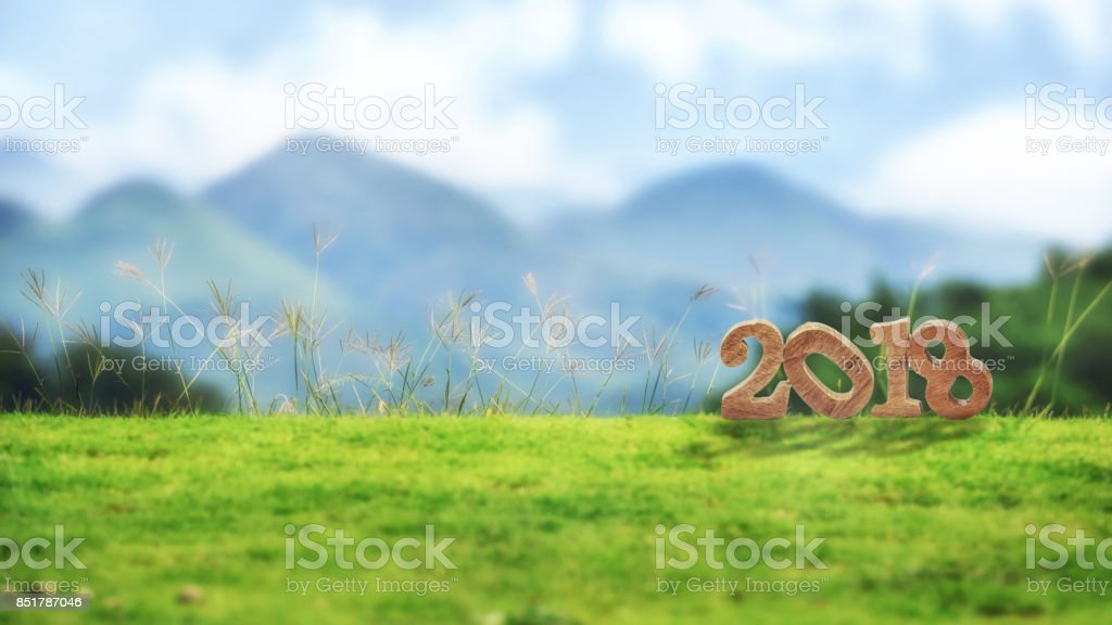 happy new year 2018 nature concept royalty free stock photo