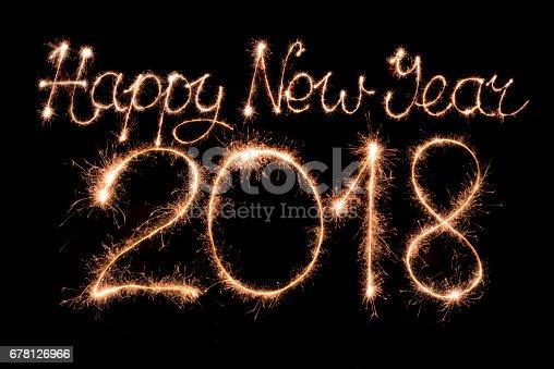 istock Happy new year 2018 678126966