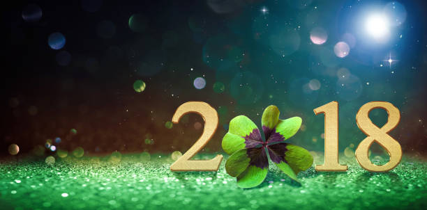 happy new year 2018 - new year day stock photos and pictures