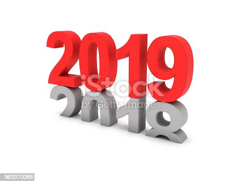 istock Happy New Year 2019 - 3D Rendered Image 963370088