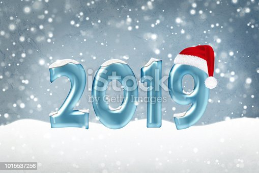istock Happy New Year 2019 background 1015537256