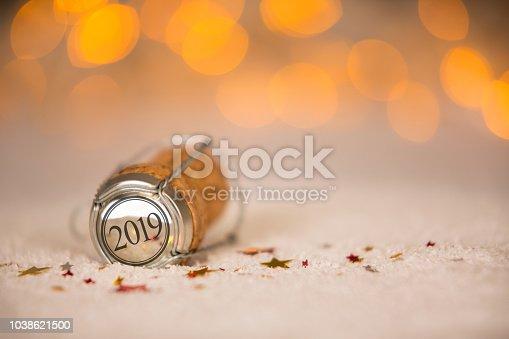 istock Happy New Year 2019 Cork on the Snow 1038621500