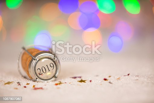 istock Happy New Year 2019 Cork on the Snow 1057907082