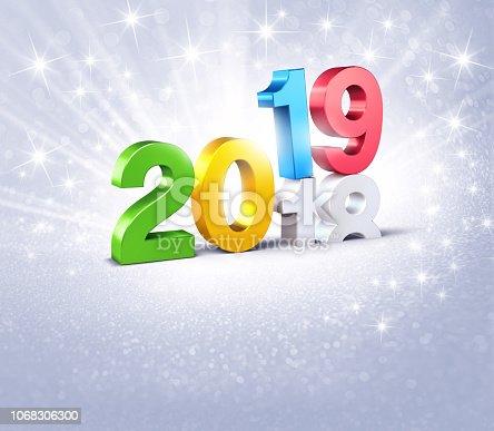 istock Happy New Year 2019 festive symbol 1068306300