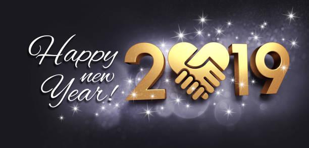glückliches neues jahr 2019 grußkarte für den austausch von - erfolgreich wünschen stock-fotos und bilder