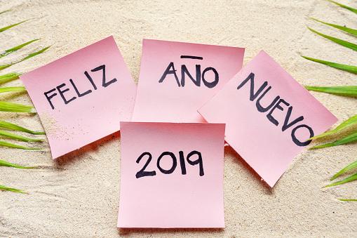 "Happy new year 2019 in spanish ""feliz año nuevo"""