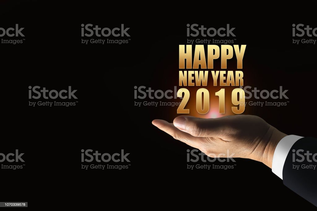 Happy New Year 2019 Modern Style On The Hand Of Successful