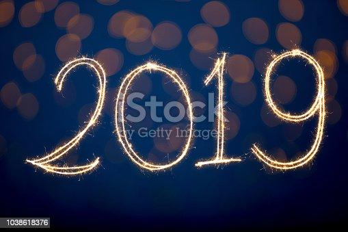 1069595584 istock photo Happy New Year 2019 1038618376