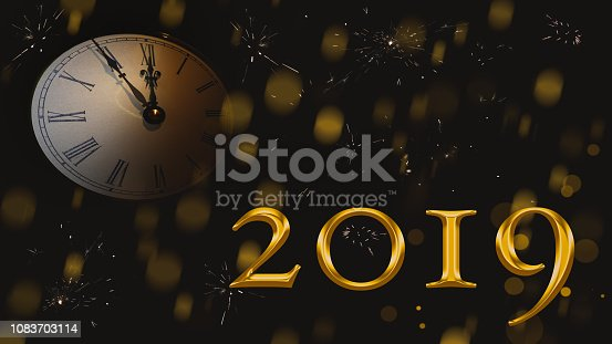 istock Happy New Year 2019. 1083703114