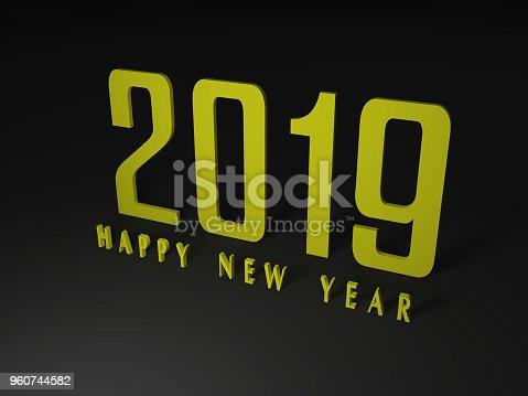 968131582 istock photo Happy New Year 2019 960744582