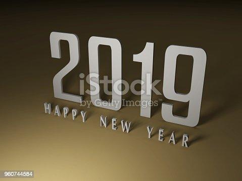 968131582 istock photo Happy New Year 2019 960744584