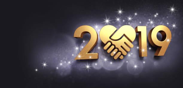 glückliches neues jahr 2019 symbol für grußkarte - erfolgreich wünschen stock-fotos und bilder