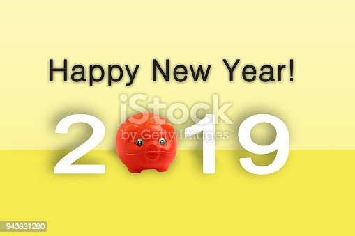 istock Happy new year 2019  text - calendar background. 2019 numbers isolated 943631280