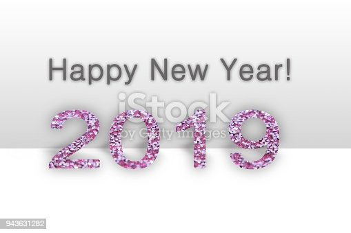 istock Happy new year 2019  text - calendar background. 2019 numbers isolated 943631282