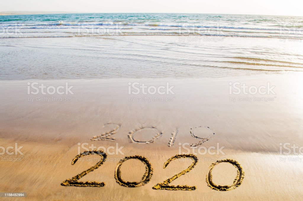 Happy New Year 2020 Beach Picture Image Abstract ...